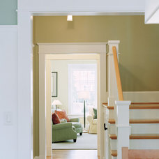 traditional staircase by Moore Architects, PC