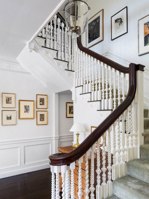 Dark Carpet Staircase Ideas & Photos   Houzz