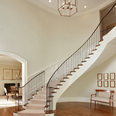 Transitional Staircase by Edgemoor Custom Builders
