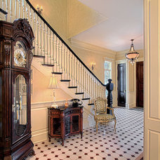 Eclectic Staircase by Greenside Design Build LLC