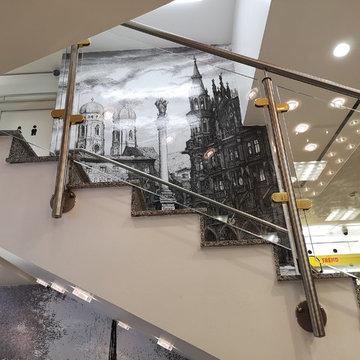 Choice of High-end Shopping Malls:Titanium plating Glass Railing System