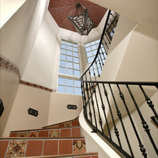 Mediterranean Staircase by Christian Rice Architects, Inc.
