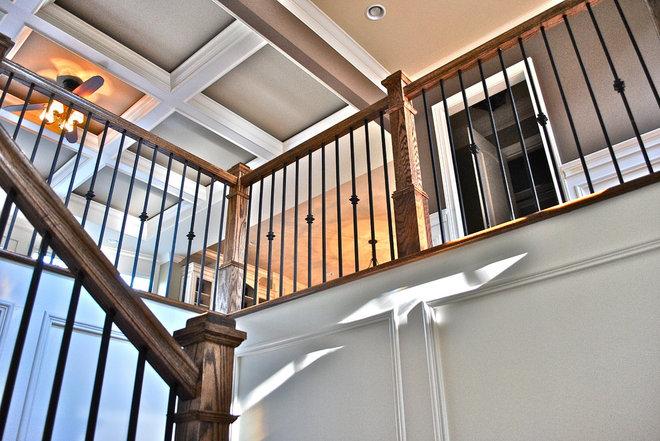 Mediterranean Staircase by Berry Design Build