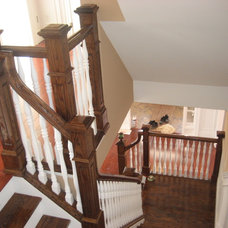 Traditional Staircase by Creative Concepts Construction