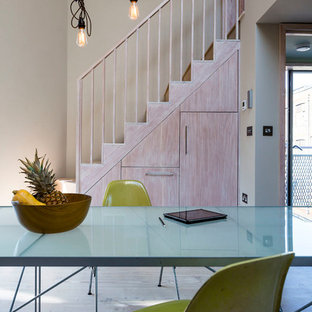 Example of a small trendy staircase design in London