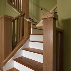 Traditional Staircase by Brookstone Builders