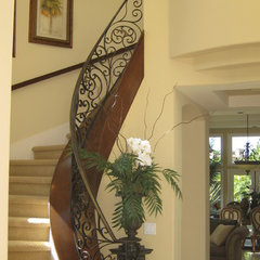mediterranean staircase by Remington Construction Services