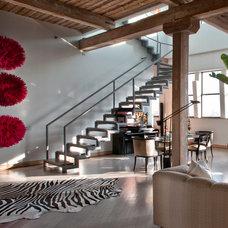 Contemporary Staircase by Nora Schneider Interior Design