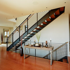 Contemporary Staircase by Rhodes Architecture + Light