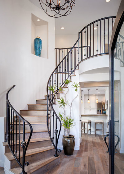 Mediterranean Staircase by AlphaStudio Design Group