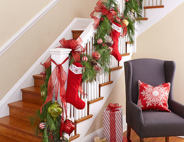Classic Christmas Stairs
