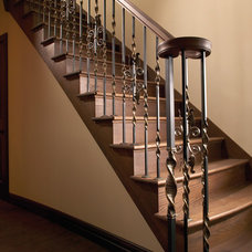 Traditional Staircase by Prestige Metal