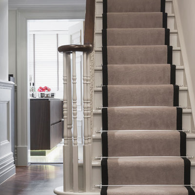 Example of a classic u-shaped staircase design in Berkshire