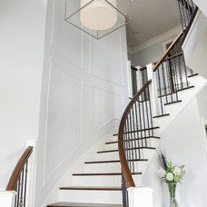 Transitional Staircase by Enviable Designs Inc.