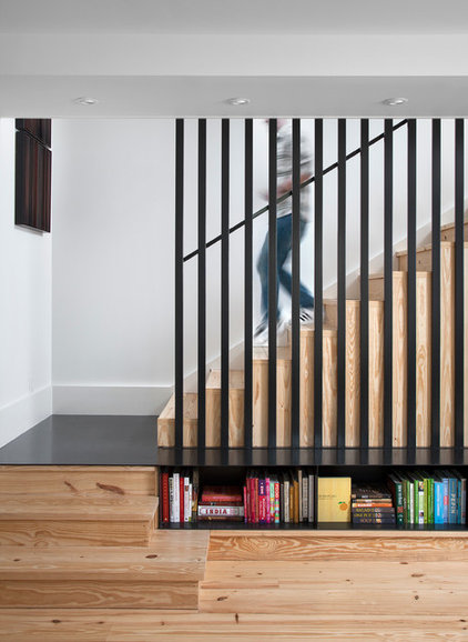 Scandinavian Staircase by Texas Construction Company