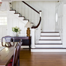 Farmhouse Staircase by Windover Construction