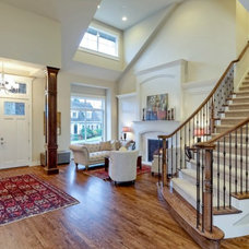 Traditional Staircase by Seattle Staged to Sell and Design LLC