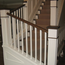 Traditional Staircase by CMR Interiors & Design Consultations Inc.