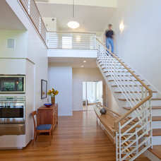 Contemporary Staircase by Wright-Ryan Homes