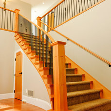 Traditional Staircase by Denise Mitchell Interiors