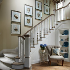 beach style staircase by Studio M Interior Design