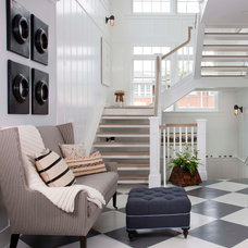 Beach Style Staircase by Flagg Coastal Homes