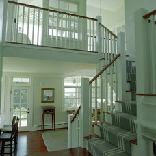 Traditional Staircase by Charles R Myer & Partners, Ltd