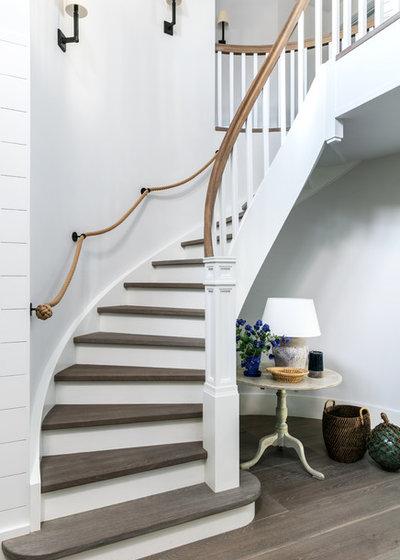 Beach Style Staircase Coastal Staircase