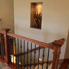 Traditional Staircase by Quintus Construction