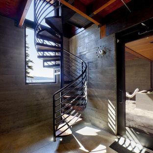 Modelo de escalera de caracol urbana