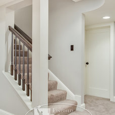 Traditional Staircase by Finished Basement Company