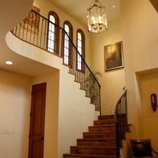 Mediterranean Staircase by James Glover Residential & Interior Design