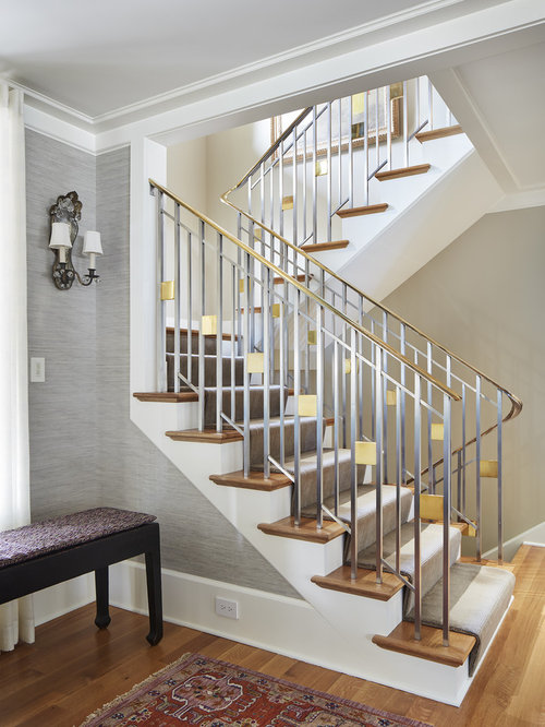 10k transitional staircase design ideas remodel pictures houzz
