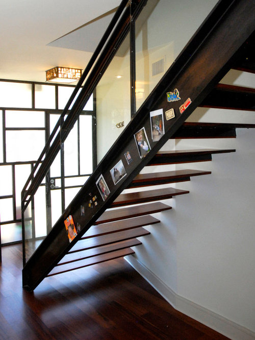 Example Of A Trendy Open Staircase Design In Austin