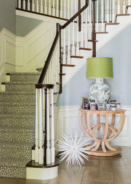 eclectic staircase by Hudson Interior Design