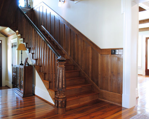 Stained Wainscoting Houzz