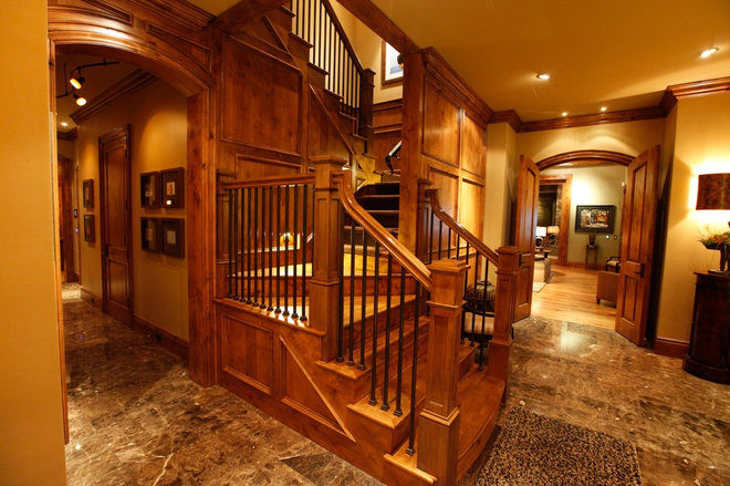 Traditional Staircase by Tulsa Design Therapy