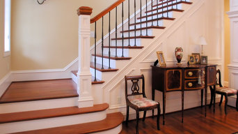 Complete Staircase, Paneling and Columns Remodel