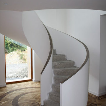 Concrete Spiral Stairs with Upstand