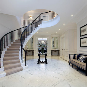 Concrete stairs in Virginia water