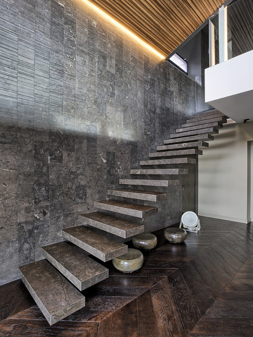 Eclectic Floating Staircase Design Ideas Renovations Photos
