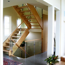 Contemporary Staircase by smith + co.