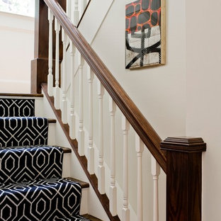 Inspiration for a transitional staircase remodel in Boston
