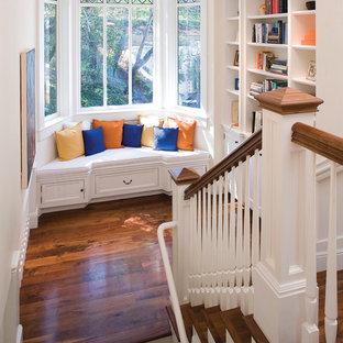 Elegant wooden u-shaped staircase photo in San Francisco