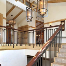 Contemporary Staircase by Bobbie McCallum Interiors LLC