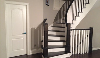 Contemporary dark and white contrast staircase