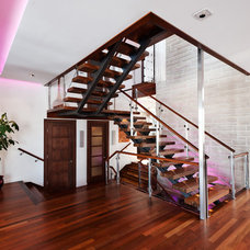 Contemporary Staircase by David Giral Photography