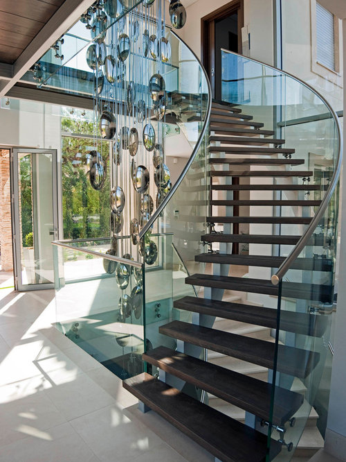 Glass Stair Railing Home Design Ideas Pictures Remodel And Decor