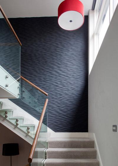 Contemporary Staircase by Nicola O'Mara Interior Design