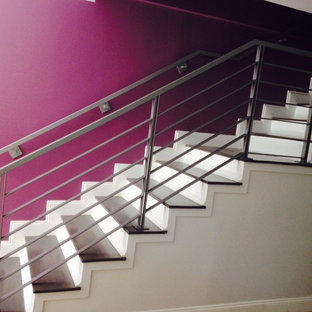 Inspiration for a modern staircase remodel in Miami